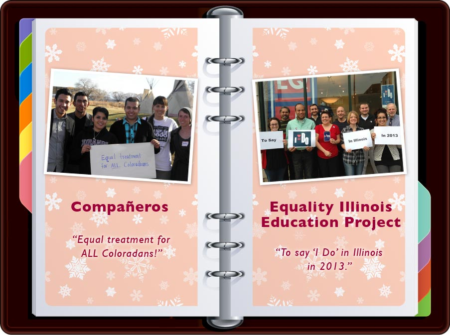 """Companeros: """"Equal treatment for ALL Coloradans"""" / Equality Illinois: """"To Say 'I Do' in Illinois in 2013"""""""